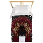 Native War Bonnet 06 Twin Duvet