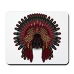 Native War Bonnet 06 Mousepad