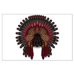 Native War Bonnet 06 Large Poster