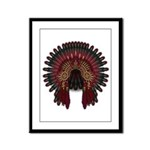 Native War Bonnet 06 Framed Panel Print