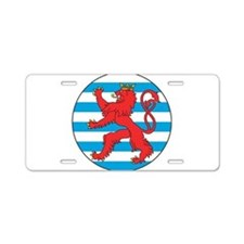 Luxembourg Roundel Aluminum License Plate