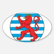 Luxembourg Roundel Sticker (Oval)