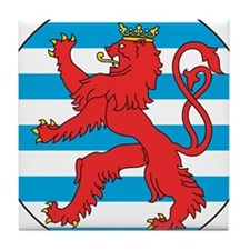 Luxembourg Roundel Tile Coaster