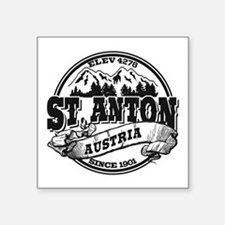 "St. Anton Old Circle Square Sticker 3"" x 3"""