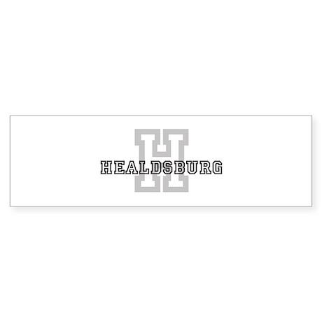 Healdsburg (Big Letter) Bumper Sticker