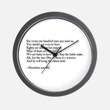 Heraclitus Quote Wall Clock