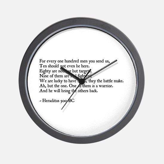 Heraclitus Quote Wall Clock