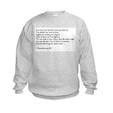Heraclitus Quote Sweatshirt