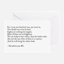 Heraclitus Quote Greeting Cards (Pk of 10)