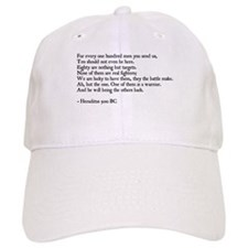 Heraclitus Quote Baseball Cap