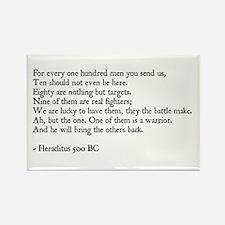 Heraclitus Quote Rectangle Magnet