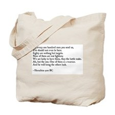 Heraclitus Quote Tote Bag