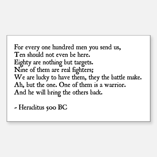 Heraclitus Quote Rectangle Decal