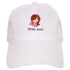 Aunt Breast Cancer Support Baseball Cap