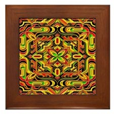 Colorful Mazes Framed Tile