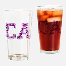 CA, Vintage Drinking Glass