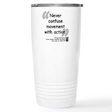 Hemingway Action Quote Ceramic Travel Mug