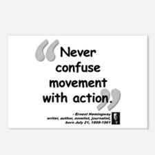 Hemingway Action Quote Postcards (Package of 8)