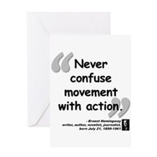 Hemingway Action Quote Greeting Card