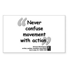 Hemingway Action Quote Decal