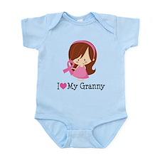 Granny Breast Cancer Support Infant Bodysuit