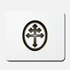 Cross of Lorraine neon -plastic2.psd Mousepad