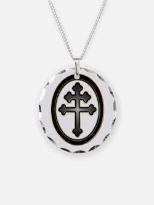 Cross of Lorraine neon -plastic2.psd Necklace