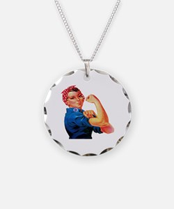 Rosie the Riveter Necklace