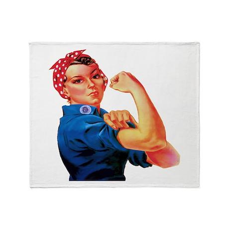 Rosie the Riveter Throw Blanket