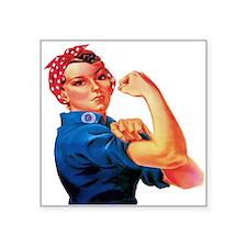 "Rosie the Riveter Square Sticker 3"" x 3"""