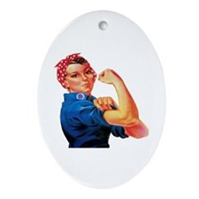 Rosie the Riveter Ornament (Oval)