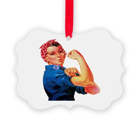Rosie the Riveter Picture Ornament