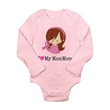 MomMom Breast Cancer Support Long Sleeve Infant Bo