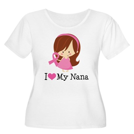 Nana Breast Cancer Support Women's Plus Size Scoop