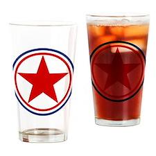 North Korea Roundel Drinking Glass