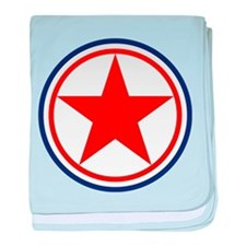 North Korea Roundel baby blanket