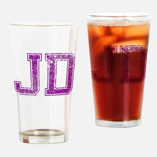 JD, Vintage Drinking Glass