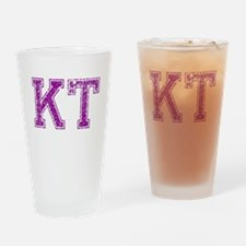 KT, Vintage Drinking Glass