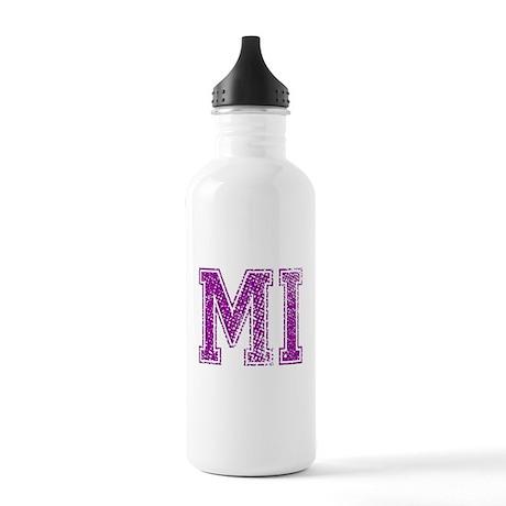MI, Vintage Stainless Water Bottle 1.0L