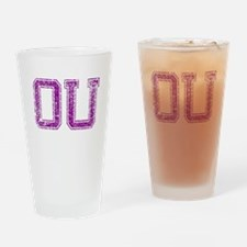 OU, Vintage Drinking Glass