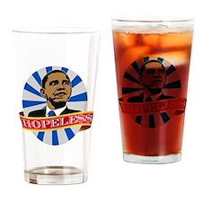 Obama Hopeless Drinking Glass