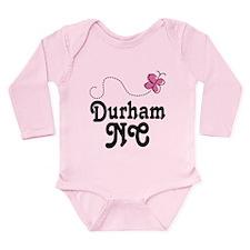 Durham North Carolina Long Sleeve Infant Bodysuit