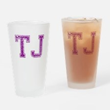 TJ, Vintage Drinking Glass