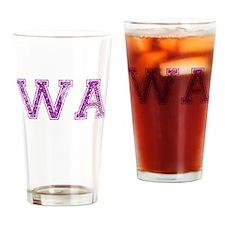 WA, Vintage Drinking Glass