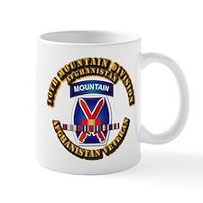 Army - 10th Mountain Div w Afghan SVC Ribbons Mug