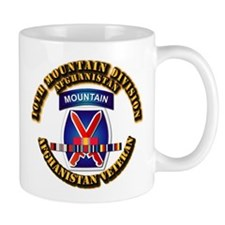 Army - 10th Mountain Div w Afghan SVC Ribbons Mug