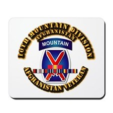 Army - 10th Mountain Div w Afghan SVC Ribbons Mous