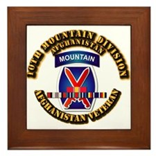 Army - 10th Mountain Div w Afghan SVC Ribbons Fram