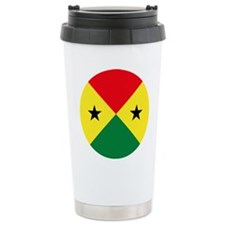 Sao Tome And Principe Roundel Travel Mug