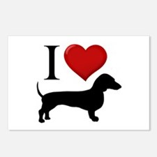 Dachshund - I Love Dachshunds Postcards (Package o